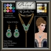 Beloved Jewelry : Fifi Set (Texture Change Earrings & Neckace) Choice of Silver, Platinum, Gold, 12 Gems. Amethyst