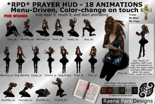RPD PRAYER HUD (WOMEN), 18 ANIMATIONS, MENU DRIVEN, AND COLOR-CHANGE BIBLE