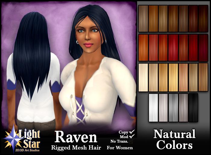 *LightStar-Hair-Raven-Natural Colors