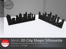 [DD] - FULL PERM  3D City Shape Silhouette