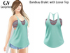 Full Perm Rigged Mesh Bandeau Bralet with Loose Top