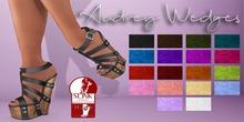 Mute. Audrey Wedges - Orange for Slink HIGH feet