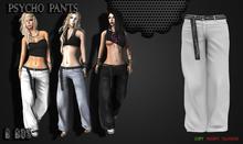 B BOS -Psycho Pants-White-