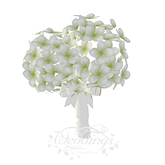 White Hydrangea Bridal Wedding Bouquet - Animations Included