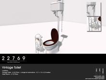 22769 ~ [bauwerk] Vintage Toilet