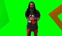 MR-Mens Hip Hop Broke my heart Tee - Black