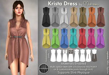 Mutresse |Krista Dress| 14 Colors-Slink/Standard Sizes (Fitted)