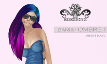 {B} DANIA MESH HAIR - RAINBOW- OMBRE 1 [GROUP GIFT]