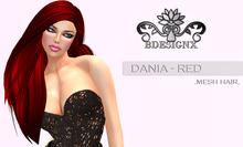 {B} DANIA MESH HAIR - RED [GROUP GIFT]