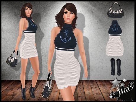 *Stars*Fashion* Classic body - Amelie outfit with handbag & boots