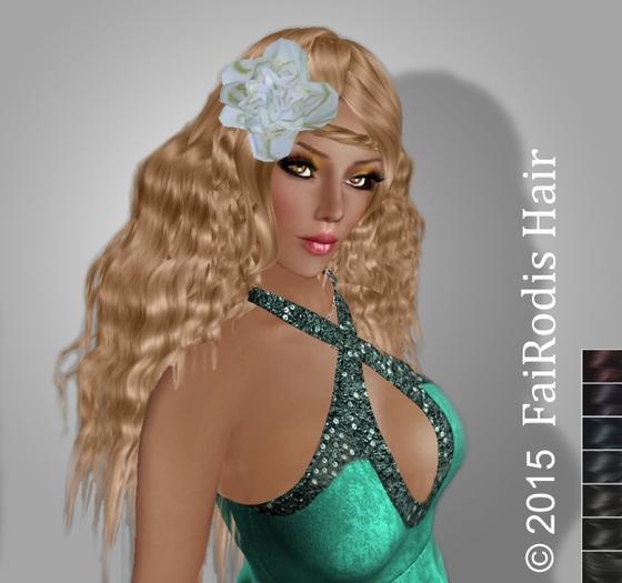 FaiRodis Olesiya black1 hair with flower decoration