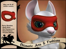 Furry Domino Mask - Red