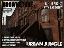 BROWNSTONE 12 x2 VARIANTS WITH BASEMENT + EXTRAS - URBAN JUNGLE
