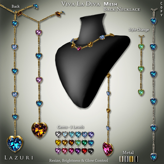 [< Lazuri >]Viva La Diva Necklace - SALE 75% OFF