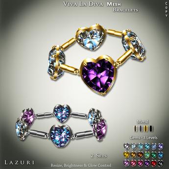 [< Lazuri >] Viva La Diva Bracelets - SALE 75% OFF