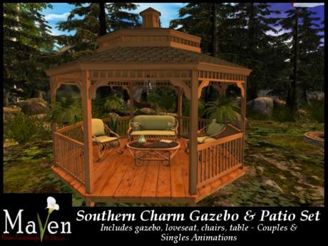 Southern Charm Gazebo And Patio Set