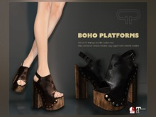 Pure Poison - Boho Platforms - Ad-ons for Maitreya and Slink Medium Feet