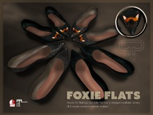 Pure Poison - Foxie Flats - Ad-ons for Maitreya and Slink Flat Feet - Unrriged Version Included - 4 MODELS INCLUDED
