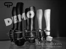 DEMO - Pure Poison - Milla Studded Spiked Boots