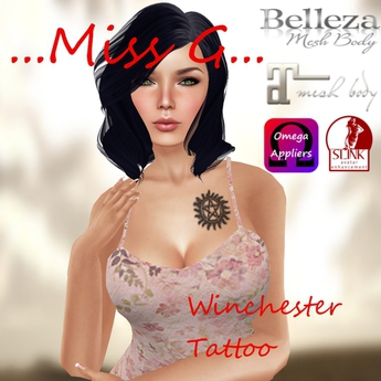 Winchester tattoo(+Maitreya, Slink, Belleza& Omega Applier)