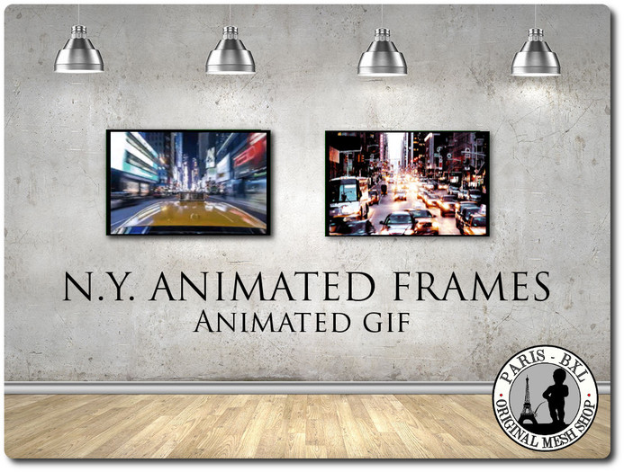 * FREE GIFT! * 2 N.Y. Urban animated frames.