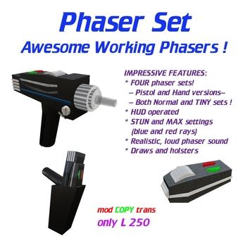 Phaser Set -- of interest to Star Trek* fans