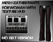 MESH LEATHER JEANS WITH HUD NO BELT VERSION !!