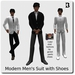 Blackburns Modern Men's Suit Fitted Mesh with Shoes