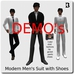 Blackburns Modern Men's Suit Fitted Mesh with Shoes  DEMO's