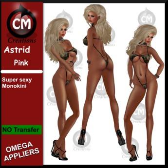 CM Creations, Astrid Monokini Black (+ Omega Applier)