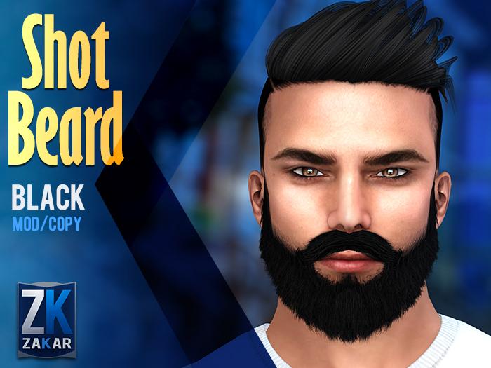 Shot Beard Black - ZK