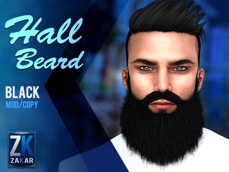 Hall Beard Black - ZK