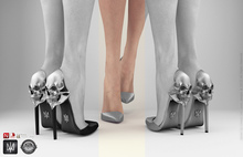 keem : Aria heels Grey ( Unpack Hud - wear )