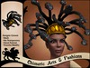 ~Chimeric Fashions~ Gorgon Wig & Crown (Black & Gold)