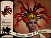 ~Chimeric Fashions~ Gorgon Wig & Crown (Red & Gold)