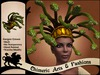 Medusa Gorgon Wig & Crown (Green & Gold)