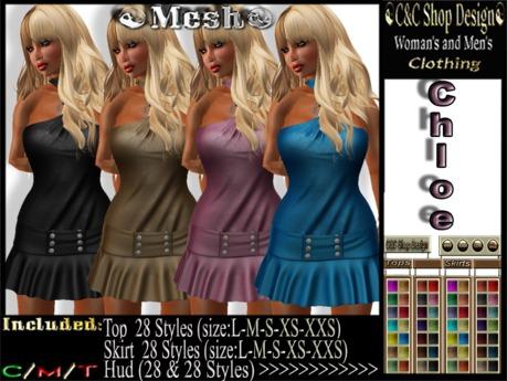 C&C Mesh Chloe (Hud 28 & 28 Styles)