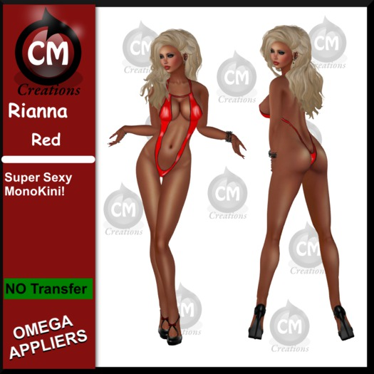 CM Creations, Rianna Monokini Red (+ Omega Applier)