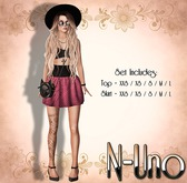 N-Uno Store - Skirt & Top - Summer Day - PINK FREE GIFT