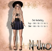 N-Uno Store - Skirt & Top - Summer Day - BLUE FREE GIFT
