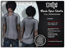 bop! Mesh Open Shirts - Full Permissions