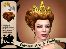 Coiled Hair & Crown (Red Brown)