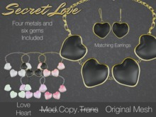 {Secret Love} Love Heart Necklace {Original mesh}