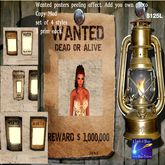 Wanted Dead or Alive posters set of 4 (crated)