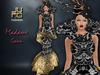 .:JUMO:. Madame Gown Black Gold