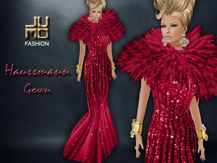 .:JUMO:. Haussmann Gown Red