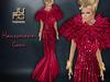 Haussmann gown red