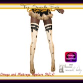 T7E: Cake Cake Cake! Thigh High Socks - Licorice - Omega & Maitreya Appliers