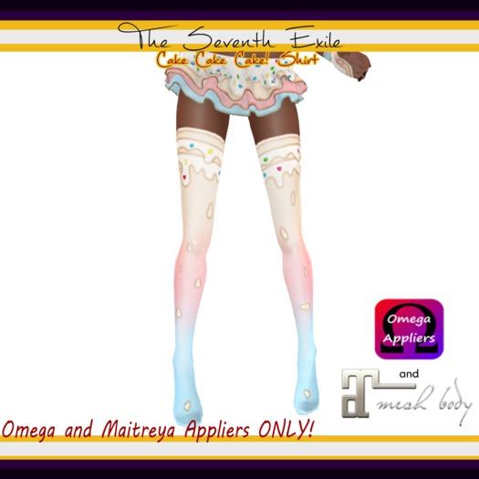 T7E: Cake Cake Cake! Thigh High Socks - Birthday - Omega & Maitreya Appliers