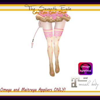 T7E: Cake Cake Cake! Thigh High Socks - Bubble Gum - Omega & Maitreya Appliers